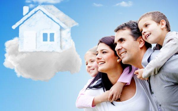 Você e sua família de casa nova