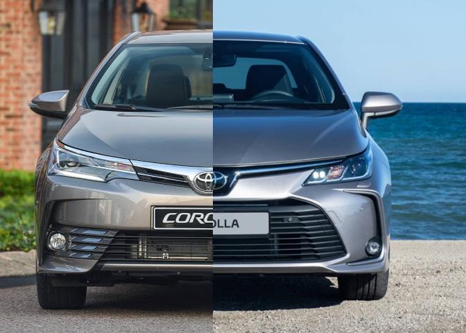 Consórcio Corolla antes e depois